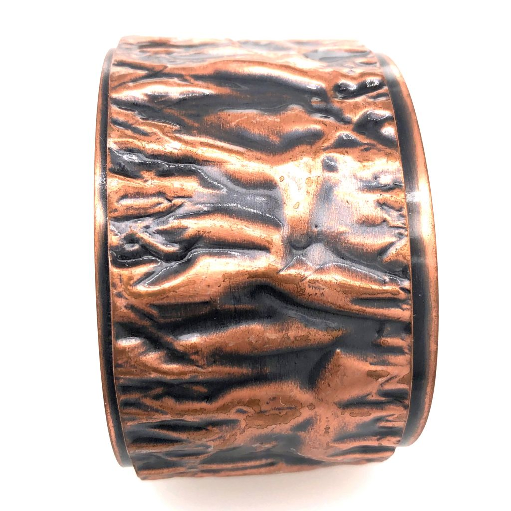 Copper Fold Formed Cuff Bracelet