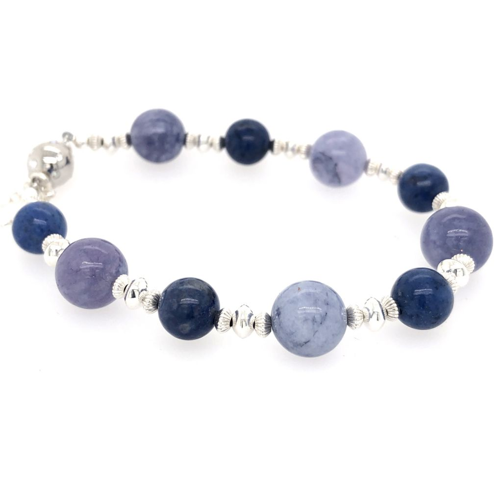"Image Description of ""Tanzanite Quartz & Dumortierite Bracelet""."