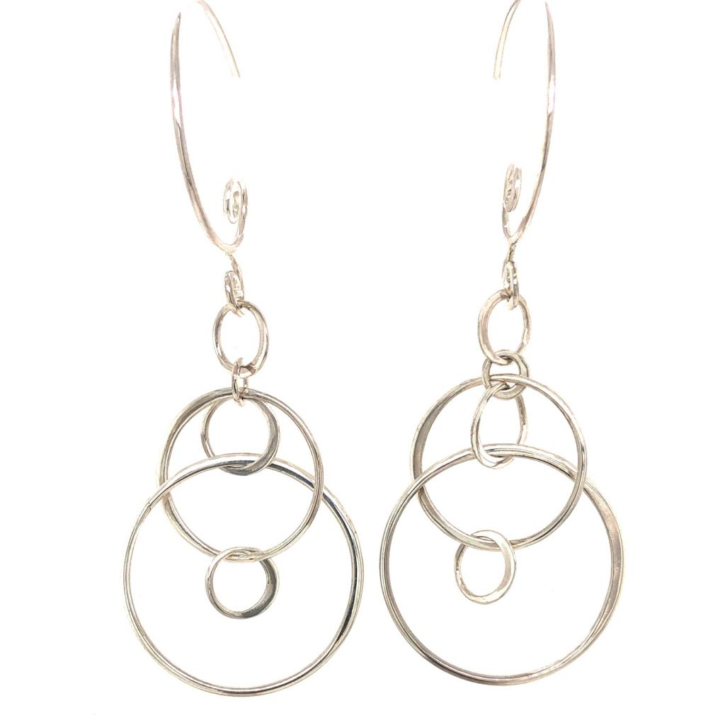 "Image Description of ""Sterling Silver Tribal Swirl Earrings""."