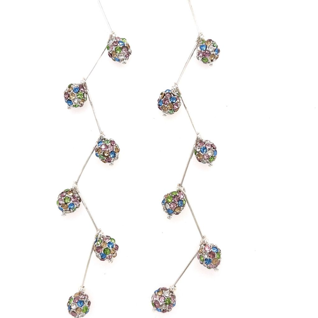 Multi-color Swarovski Crystal Ball Chandelier Earrings